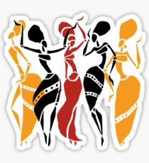 African dancers silhouette Sticker