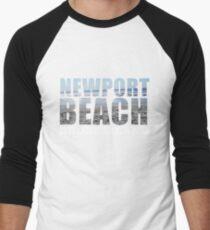 Newport Beach Rhode Island Men's Baseball ¾ T-Shirt