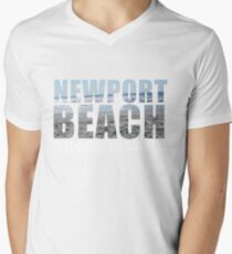 Newport Beach Rhode Island Men's V-Neck T-Shirt