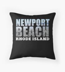 Newport Beach Rhode Island Throw Pillow