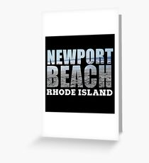 Newport Beach Rhode Island Greeting Card