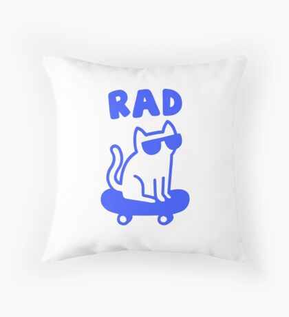 RAD CAT Throw Pillow