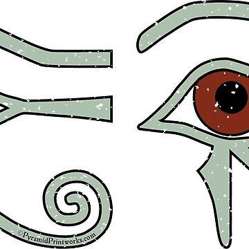 Ancient Egyptian Eye of Horus Symbol of Protection in Green on Black Mug by PyramidPrintWrx