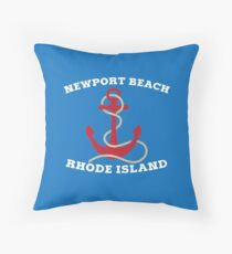Newport Beach Anchor Throw Pillow