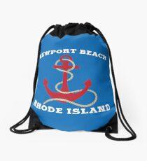 Newport Beach Anchor Drawstring Bag