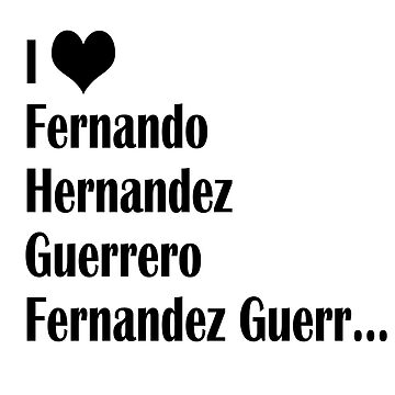 I Love Fernando de AAbi