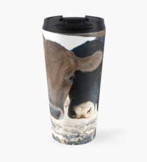 Peekaboo.... Bull & His Cow. Travel Mug