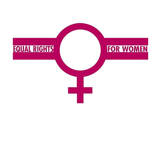 Equal Rights For Women Symbol In Pink Posters By Wordbubble Redbubble