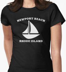 Newport Beach Sailboat Women's Fitted T-Shirt