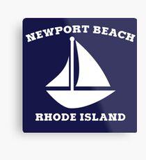 Newport Beach Sailboat Metal Print