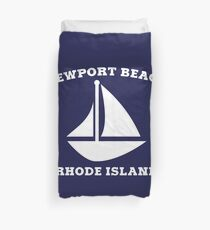 Newport Beach Sailboat Duvet Cover