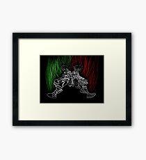 Ventus Vanitas silhouette  Framed Print