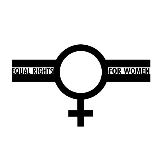 Equal Rights For Women Symbol In Black Posters By Wordbubble