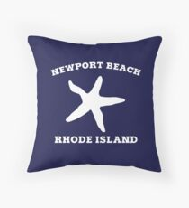 Newport Beach Starfish Throw Pillow