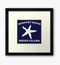 Newport Beach Starfish Framed Print
