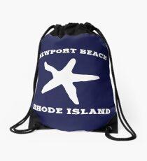Newport Beach Starfish Drawstring Bag