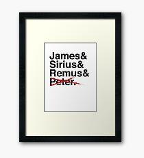 James & Sirius & Remus & X. Framed Print