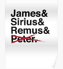 James & Sirius & Remus & X. Poster