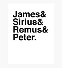 James & Sirius & Remus & Peter. Photographic Print