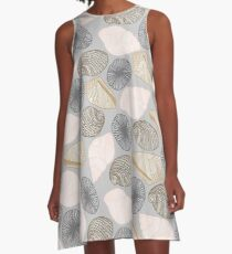 Grey Pupu Shells A-Line Dress