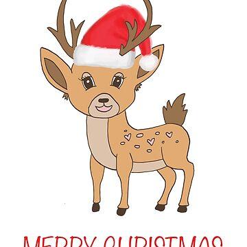 Christmas reindeer by hayleylauren