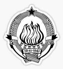 Government Seal of Socialist Federal Republic of Yugoslavia Sticker