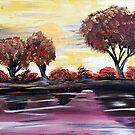 Autumn Sundown by Adam Santana