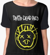 Drop Dead Fred Smiley Face Chiffon Top