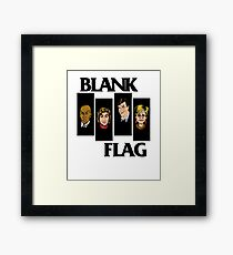 BLANK FLAG  ( Strangers With Candy ) Framed Print