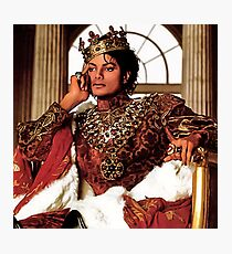 MICHAEL JACKSON AS KING OF POP Photographic Print