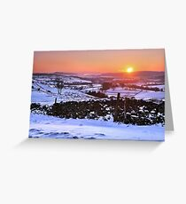 Winter Sunset on The Helm, Kendal - Cumbria Greeting Card