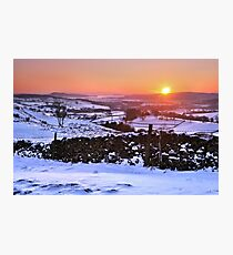 Winter Sunset on The Helm, Kendal - Cumbria Photographic Print