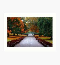 Autumn in Princes Street Gardens II Art Print