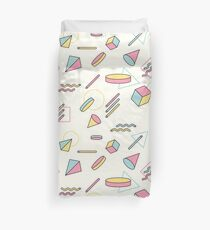The 90's (Shapes) Duvet Cover