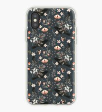 Black Crow and Butterflies iPhone Case