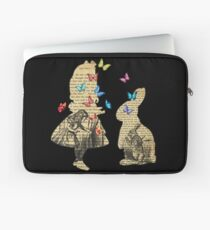 Alice & the Rabbit - Vintage Wonderland Book Laptop Sleeve
