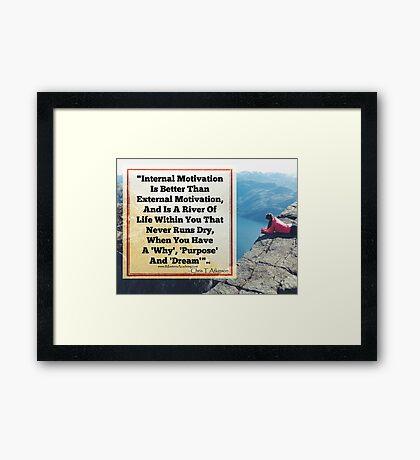 River Of Motivation Framed Print