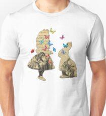 Alice & the Rabbit - Vintage Wonderland Book T-Shirt