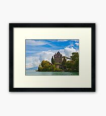 The 700 year old castle of Yvoire by the lake Geneva Framed Print