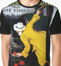 Vintage Caffe Expresso Coffee Advertising 1922 Poster Graphic T-Shirt