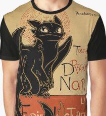 Le Dragon Noir Graphic T-Shirt