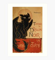 Le Dragon Noir Art Print