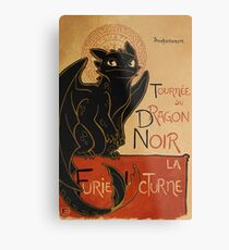 Le Dragon Noir Metal Print