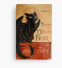 Le Dragon Noir Metal Print