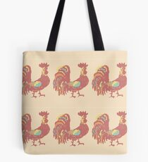 Cross Stitch Rooster Tote Bag