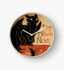 Le Dragon Noir Clock