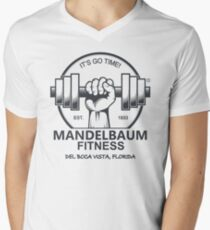 Seinfeld - Mandelbaum Fitness T-Shirt (White) Men's V-Neck T-Shirt