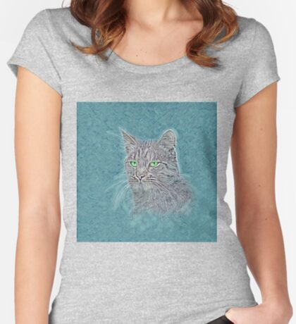 Felis silvestris catus Fitted Scoop T-Shirt