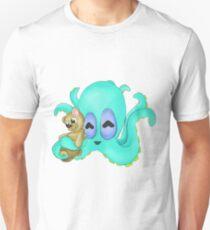 Cute Light Blue Octopus with Teddy Bear T-Shirt