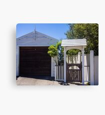 Suburban Garage Canvas Print